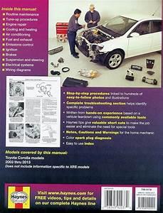 Toyota Corolla Repair Manual 2003
