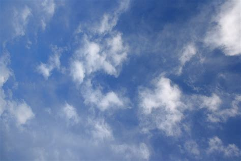 Blue Sky with White Clouds Texture Picture Free
