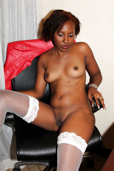 Ebony Milf In White Stockings 35 Pics