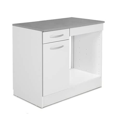 meuble de cuisine pour four avec porte et tiroir 100cm eko cuisine ameublement salon s 233 jour