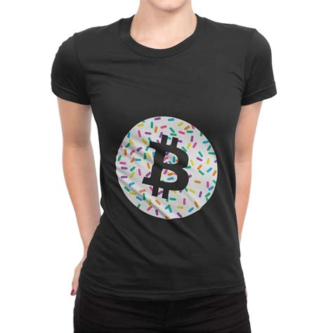 Every shirt can be customized online. Bitcoin Logo Cupcake Sprinkles Women's short sleeve t ...