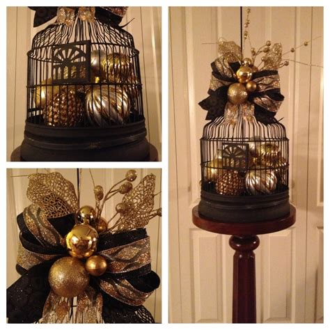 glittering black  gold christmas decoration ideas