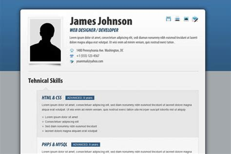 Fancy Resume by 40 Great Html Cv Resume Templates Template Idesignow