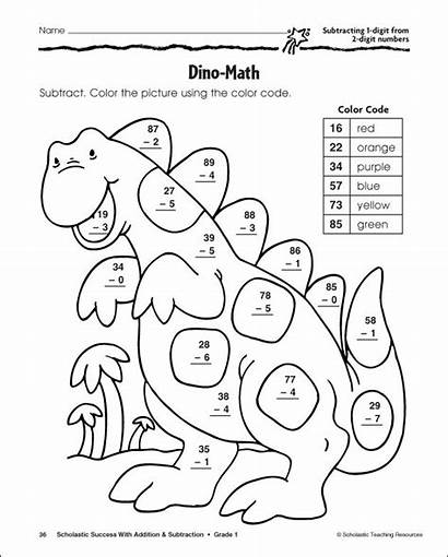 Coloring Pages Addition Difference Counting Spot