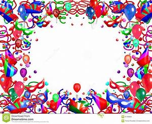 Balloons and streamers stock illustration. Image of blue ...