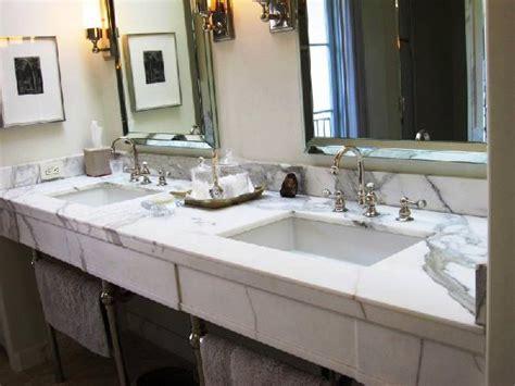 calcutta marble vanity contemporary bathroom
