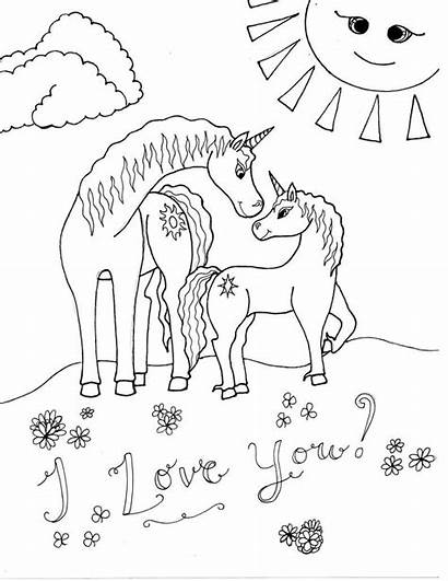 Unicorn Coloring Pages Strong Raising Smart Fearless