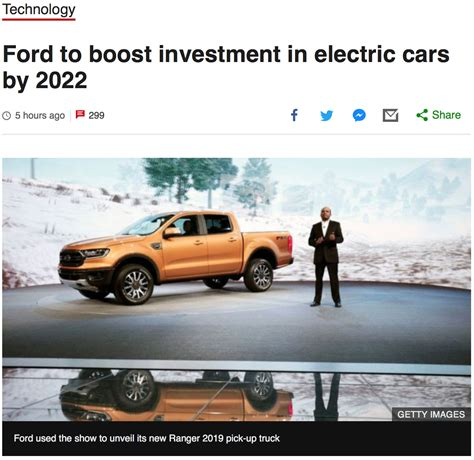 ford  boost investment  electric cars