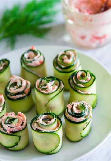 recette rouleaux de concombre au saumon fume recettes