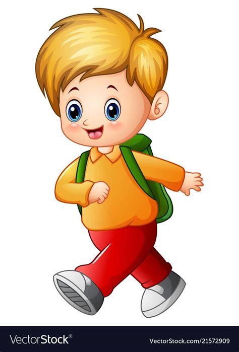 illustration  cute schoolboy cartoon