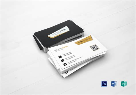 professional business card design template  psd word