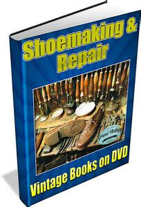shoemaking  vintage books  dvd shoes boots