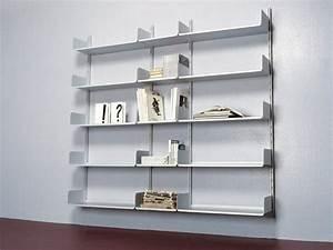 étagères Murales Design : biblioth que moderne et design pour un rangement avec finesse ~ Teatrodelosmanantiales.com Idées de Décoration