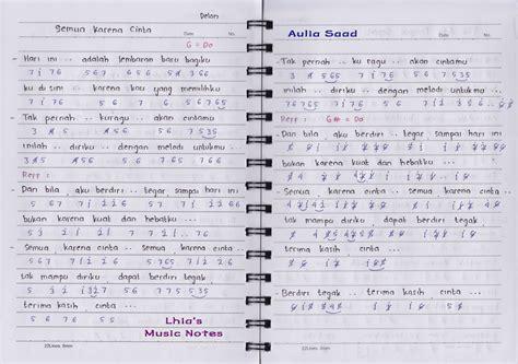not angka pianika lagu korea not angka delon semua karena cinta lhia 39 s music notes