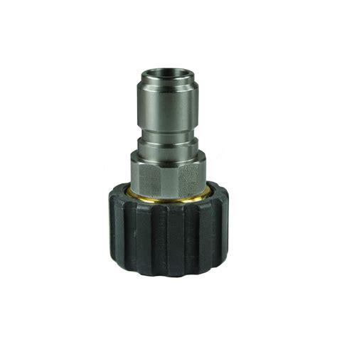 raccord rapide fixation m22f inox laiton adaptable karcher