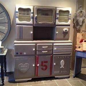 Meuble Vintage Relooké. meuble buffet vintage pieds compas jaune ...