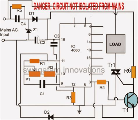 simple triac timer circuit circuit projects