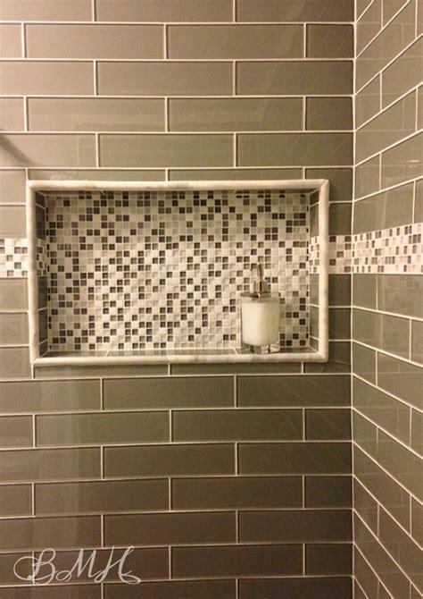 Bathroom Tile Shelf by Glass Subway Tile Shower Mosaic Glass Built In