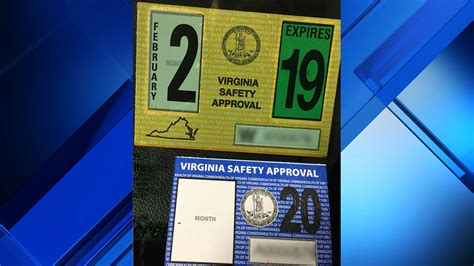 virginia shrinks vehicle inspection sticker size