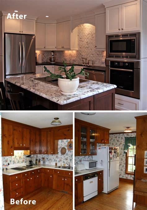 before and after small kitchen makeovers more efficient with small kitchen remodel deannetsmith 9090