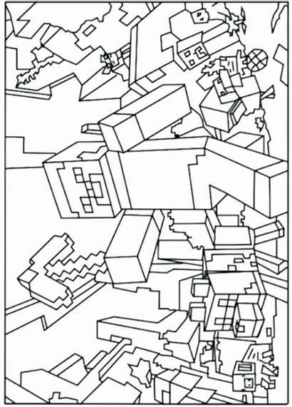Minecraft Coloring Pages Creeper Printable Mutant Face