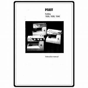 Pfaff Hobby 1020 Manual