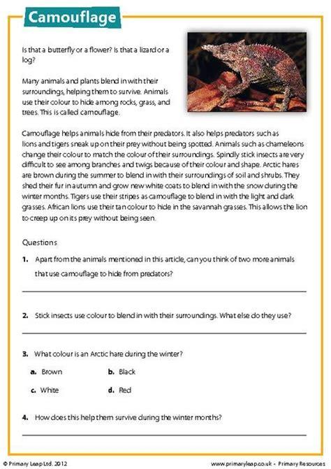 primaryleapcouk camouflage reading comprehension