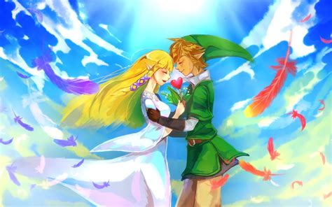 wallpaper link  legend  zelda skyward sword anime