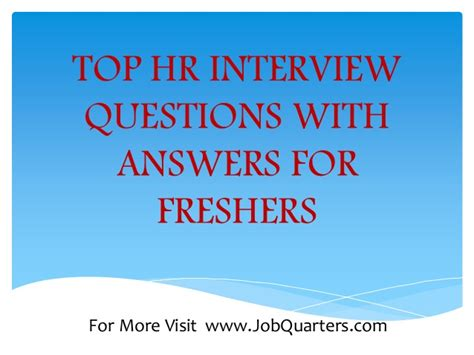 interview for hr position questions and answers top hr interview questions and answers for freshers by www