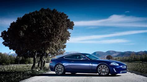 Blue Jaguar Car Hd Desktop Wallpaper