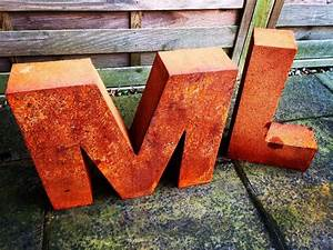 corten metal letters With corten steel letters