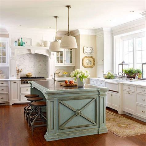 painted kitchen island robin s egg blue island white cabinets kitchen interiors designed com
