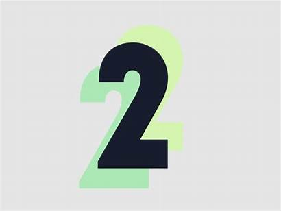 Number Animated Animation Dribbble Number2 Clipart Song