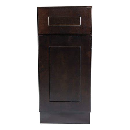 kitchen cabinets ready to assemble rta all wood cabinet mania espresso shaker b9 base cabinet 9 quot wide