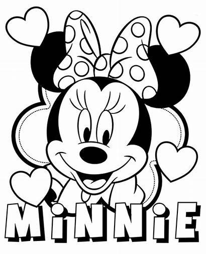 Minnie Mouse Coloring Disney Mickey Characters Printable
