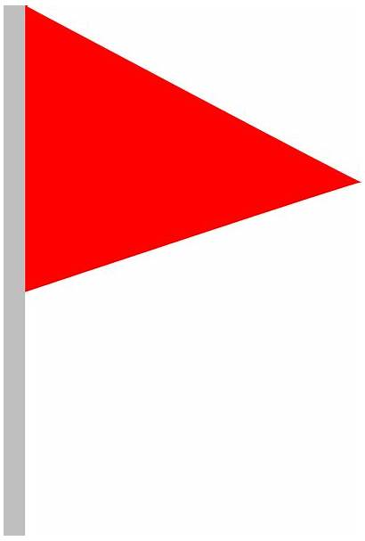 Flag Clip Clipart Triangle Clker Clipartmag Vector