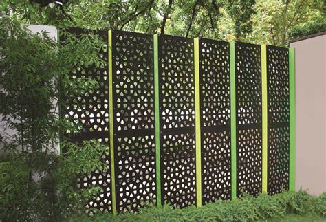 backyard privacy screens decorative metal outdoor privacy