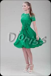green cocktail dress bridesmaid short dress lace wedding With short green wedding dresses