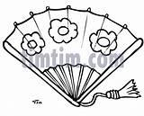 Fan Drawing Drawings Cartoon Timtim Beauty Bw Fans Coloring Category Flower Designs sketch template