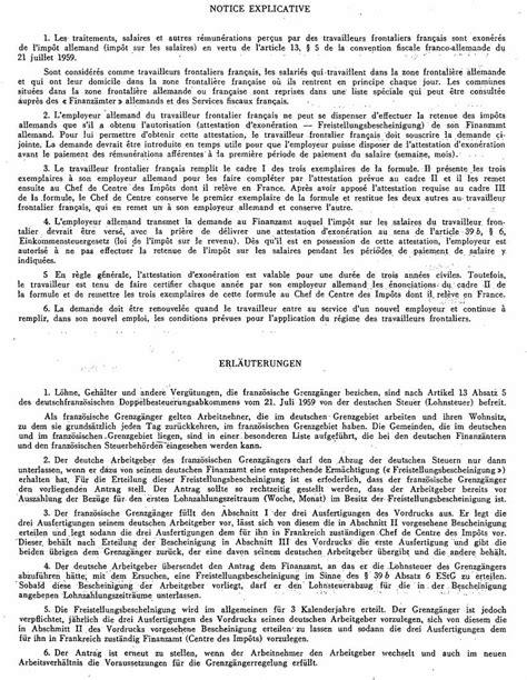 bureau en allemand formulaire int demande d 39 exonération de l 39 impôt