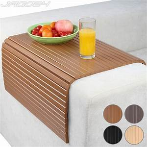 sofa arm rest tray couch chair cover flexible snack table With sofa arm covers wood