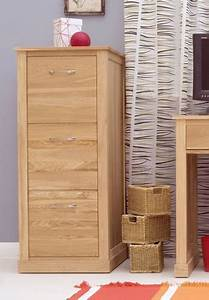 Mobel Oak 3 Drawer Filing Cabinet AKD Furniture