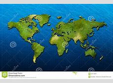 3D world map stock illustration Illustration of countries