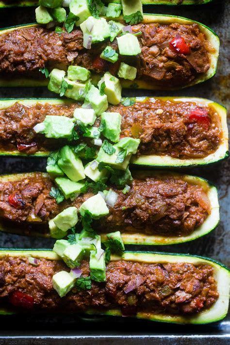 Tuna Stuffed Zucchini Boats mexican tuna stuffed zucchini boats food faith fitness