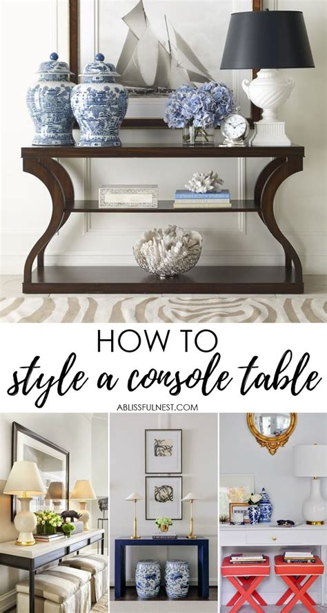 25 best ideas about console table styling on