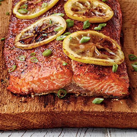 cedar planked salmon   salmon recipes coastal living