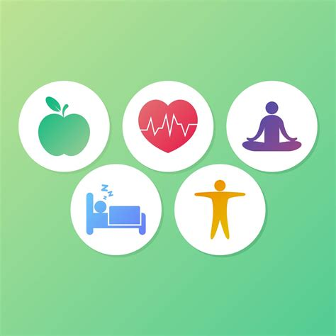 health symbols colorful   vectors clipart
