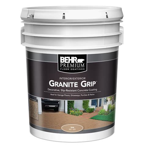 behr rubberized deck coating behr 5 gal 65505 granite grip interior exterior