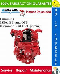 Cummins Isbe  Isb  And Qsb  Common Rail Fuel System  Service Repair Manual  U2013 Pdf Download