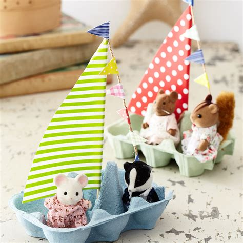 How To Make Kids Craft Boats With Your Egg Boxes